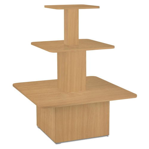 Beech Small 3-Shelf Island Display Gondola - Silhouette Range