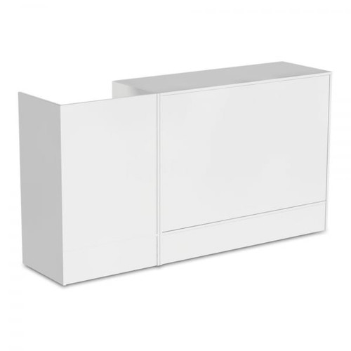 White Shop Counter and Till Unit Bundle - Silhouette Range