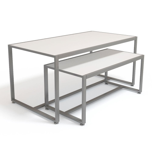 White Nesting Tables - 2-piece - Silhouette Range