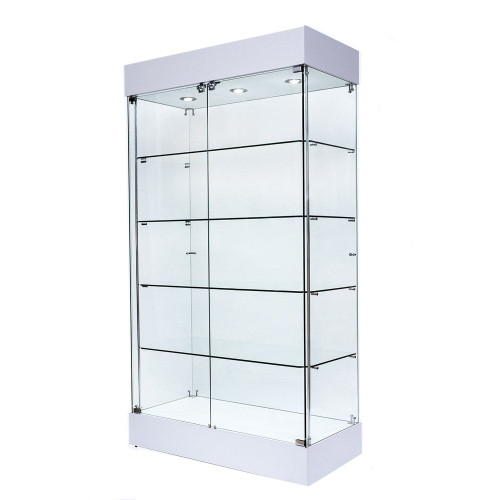 Skyline 360 Frameless Tower  Showcase All-Glass Display - Double Door