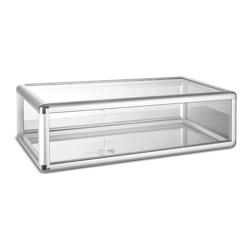Aluminium/Glass Countertop Display Cabinet with Lock