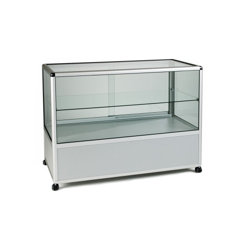 Glass Display Counter With or Without Mini Spotlights with 1 Glass Shelves - Contour Range