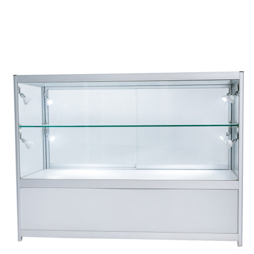 Skyline Aluminium Showcase with 2/3 Glass Display and Storage Cupboard
