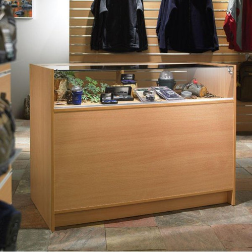 Shop Counter with 1/4 Glass Display - Aura Range