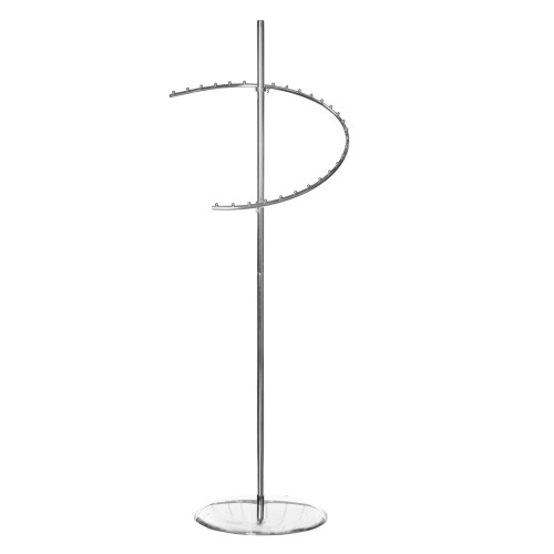 Chrome Sprial Clothes Rail Display Stand