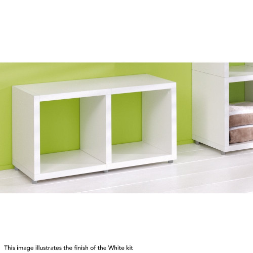 Cube Shelving Display & Storage - 1 High x 2 Wide
