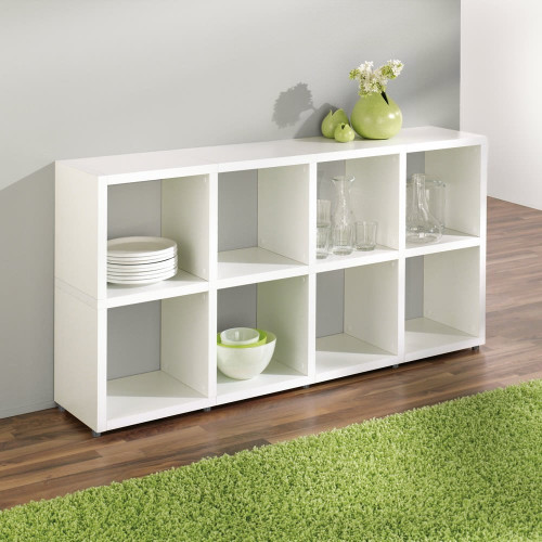 Cube Shelving Display & Storage - 2 High x 4 Wide