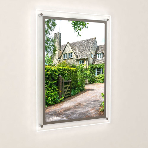 Accent Bevelled Edge LED Light Panel Wall-Mounted Kit - A2 Portrait