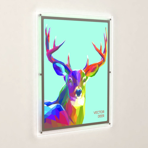 Accent Bevelled Edge LED Light Panel Wall-Mounted Kit - A1 Portrait