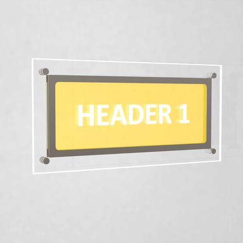Header Panel for A3 Landscape, A2 Portrait and Double A4 Portrait Pockets