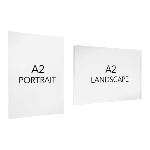 Easy Access Poster Holder - A2 - Cable or Wall-Mounted