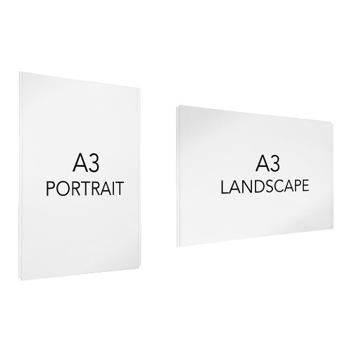 Easy Access Poster Holder - A3 - Cable or Wall-Mounted