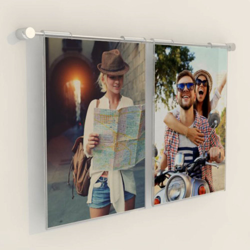 Hook-on Pocket Wall-Mounted Cable Display Kit - A4 Portrait