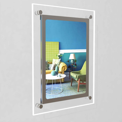 Accent Bevelled Edge LED Light Panel Wall-Mounted Kit - A4