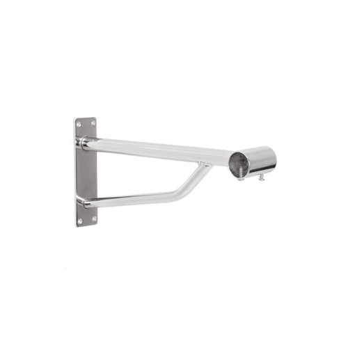Heavy Duty Chrome Support Arm For upto 25mm Diameter tube - Wall fix