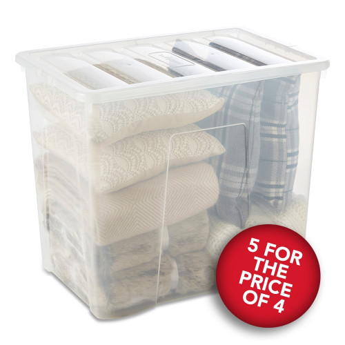 5 x 160L Clear Storage Box