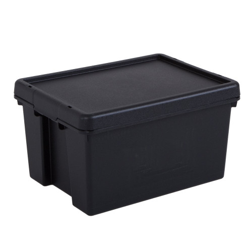 16L Black Recycled Heavy Duty Storage Box