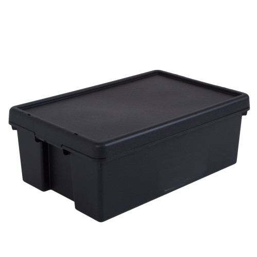 36L Black Recycled Heavy Duty Storage Box