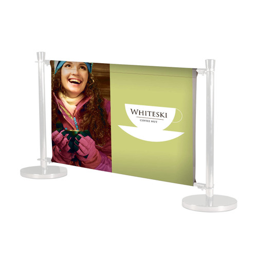 PVC Deluxe Screen for  Cafe Barriers - Single Sided Graphics