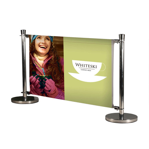 Chrome Deluxe Cafe Barrier Kit - Single Sided Graphics