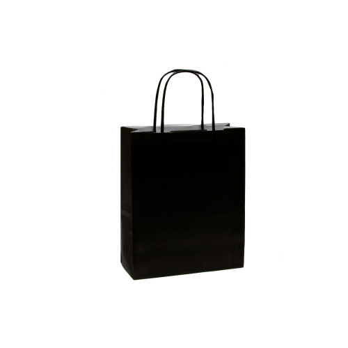 Box of 300 Black Small Paper Carrier Bags