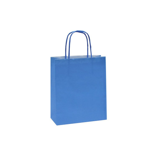 Box of 300 Blue Small Paper Carrier Bags