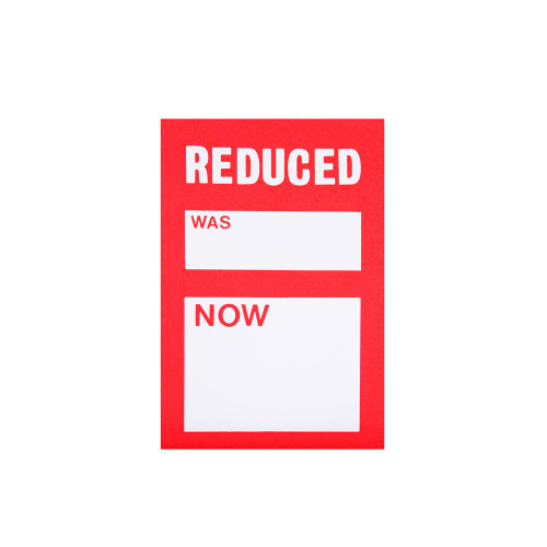 Pack of 45 Reduced Was Now Sale Tickets - 4.5 x 3 Inch