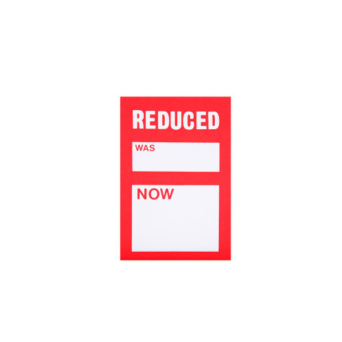 Pack of 100 Reduced Was Now Sale Tickets - 3 x 2 Inch