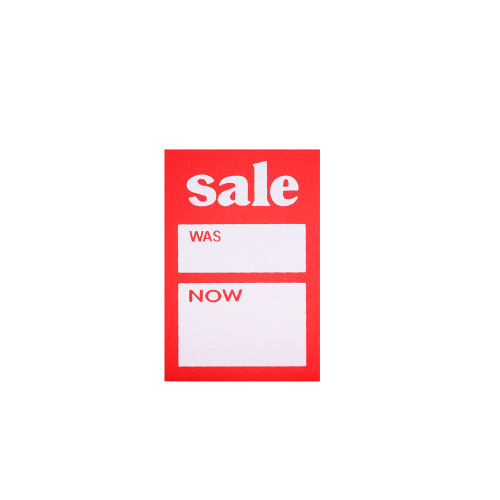 Pack of 100 Sale Was Now Tickets - 3 x 2 Inch