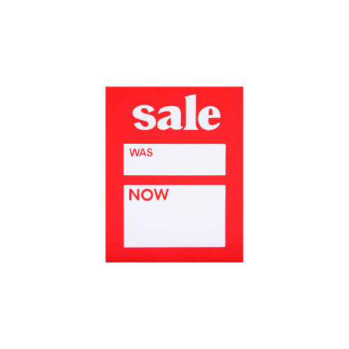 Pack of 50 Sale Was Now Tickets - 4 x 3 Inch