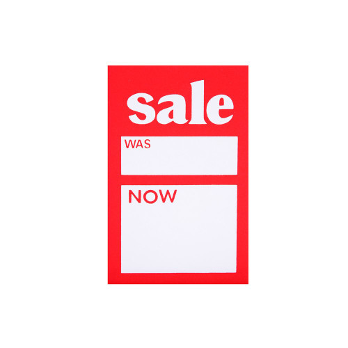 Pack of 30 Sale Was Now Tickets - 6 x 4 Inch