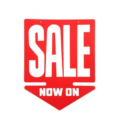 Sale Now On Arrow Sign - 24 x 18.5 inch