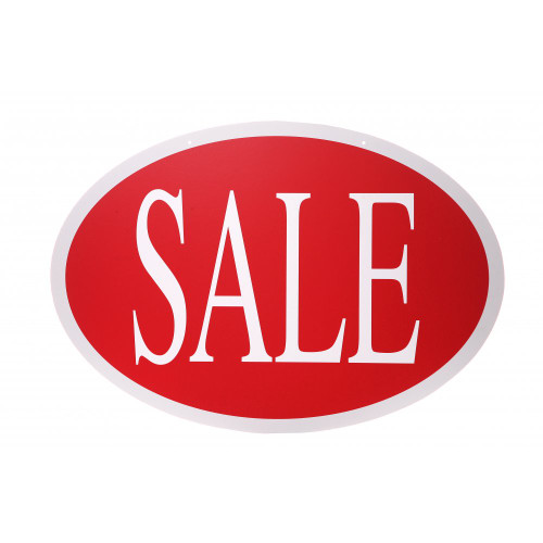 Oval Sale Hanging Sign - 21.5 x 31 inch