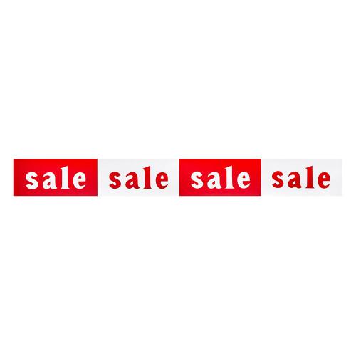 Red/White Sale Banner - 4.5 x 39 Inch