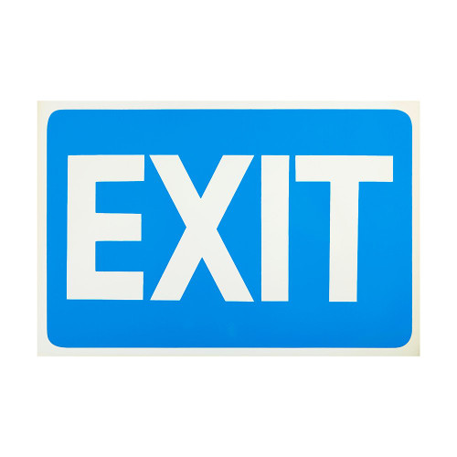Blue Exit Self-Adhesive Sign - 8 x 12 inch