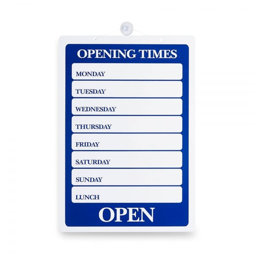 Opening Times Reversible Hanging Door Sign