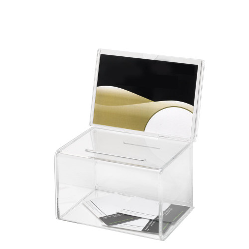 Clear Acrylic Suggestion Box With Small Insert
