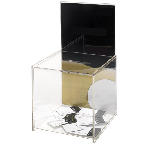 Clear Acrylic Suggestion Box With Large Insert