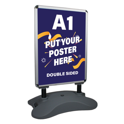 Heavy-Duty Outdoor Pavement/Forecourt A1 Swing Sign, Double Sided
