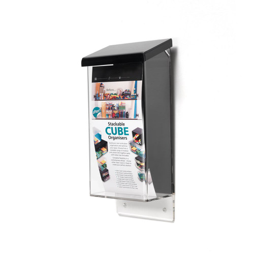 Outdoor Brochure Dispenser With Lid - 1/3 A4