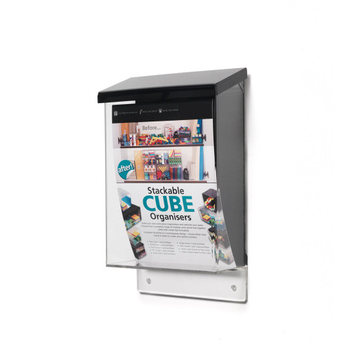 Outdoor Brochure Dispenser With Lid - A5