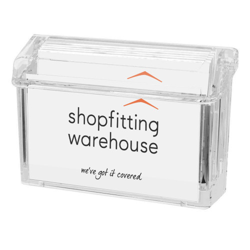 Outdoor Business Card Holder With Adhesive Mount