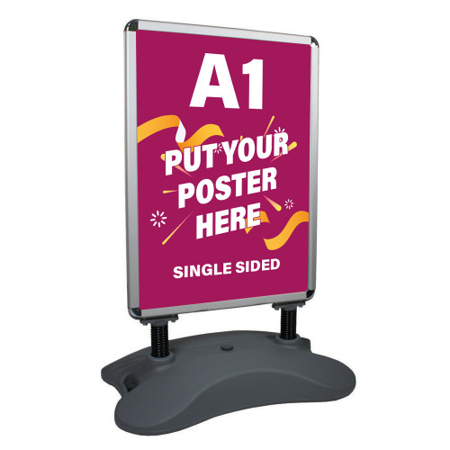 Heavy-Duty Outdoor Pavement/Forecourt A1 Swing Sign, Single Sided
