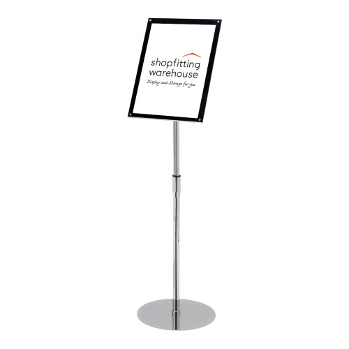 Superior Image® Bevelled-Edge Floor-Standing Sign Holder - A4