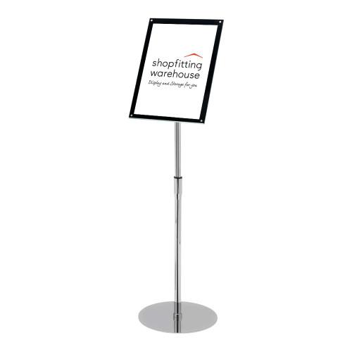 Superior Image® Bevelled-Edge Floor-Standing Sign Holder - A4