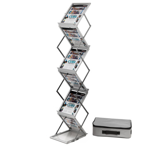 Portable/Folding Zig Zag Brochure Stand With Carry Case - A4 Portrait