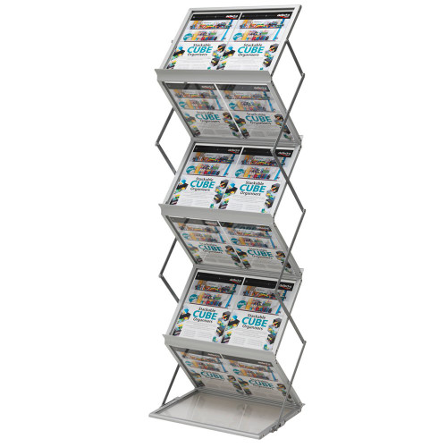 Portable/Folding Zig Zag Brochure Stand With Carry Case - A3 Landscape