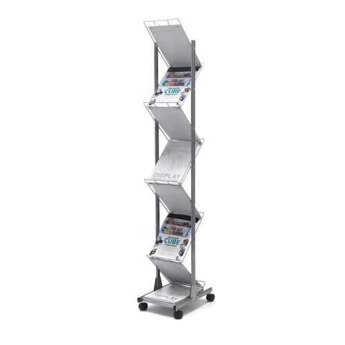 Mobile Wire Mesh Literature Floor Stand - A4 Portrait