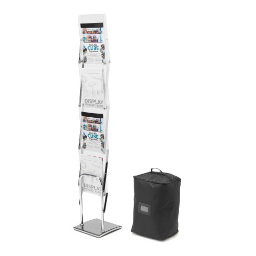 Folding Literature Floor Stand With Carry Case - A4 Portrait