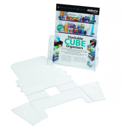 Pack of 10 Clear Folding Leaflet & Brochure Holders - DL,1/3 A4